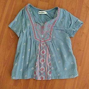 Girls Abercrombie kids boho top shirt 5/6